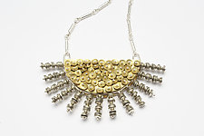 Half Moon Necklace by Stephanie O'Brien (Silver & Brass Necklace)