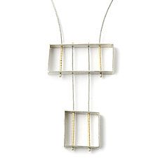 Rectangle and Square Necklace by Jackie Jordan (Gold & Silver Necklace)
