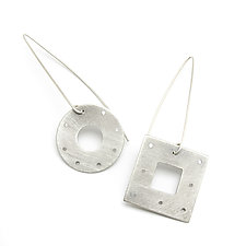 Geo Earrings by Jackie Jordan (Silver Earrings)
