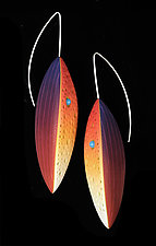 Tribal Leaves Earrings by Jeffrey Lloyd Dever (Polymer Clay Earrings)