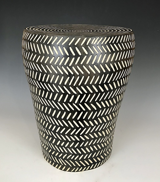 Herringbone Barrel Table