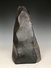 Wavy Spine Spire by Larry Halvorsen (Ceramic Sculpture)