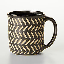 Sgraffito Mugs by Larry Halvorsen (Ceramic Mug)