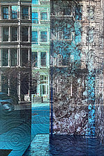 West Broadway NYC by Marilyn Henrion (Fiber Wall Hanging)