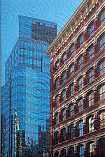 Astor Place by Marilyn Henrion (Fiber Wall Hanging)