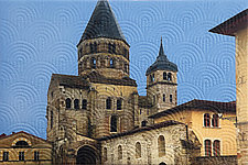 Cluny Abbey by Marilyn Henrion (Fiber Wall Hanging)