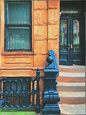 King Street NYC by Marilyn Henrion (Fiber Wall Hanging)