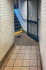 Subway 1 NYC by Marilyn Henrion (Fiber Wall Hanging)