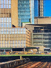 Hudson Yards NYC by Marilyn Henrion (Fiber Wall Hanging)