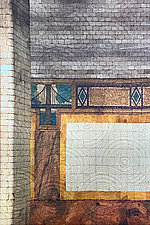 Subway 3 NYC by Marilyn Henrion (Fiber Wall Hanging)