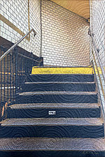 Subway 2 NYC by Marilyn Henrion (Fiber Wall Hanging)