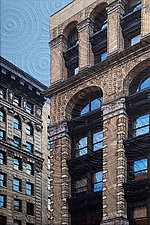 Washington Place, NYC by Marilyn Henrion (Fiber Wall Hanging)