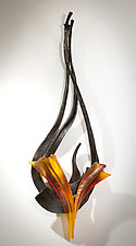 Riff No.4 by Brian Russell (Art Glass Sculpture)