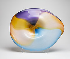 Horizon Landscape Platter by Janet Nicholson and Rick Nicholson (Art Glass Sculpture)