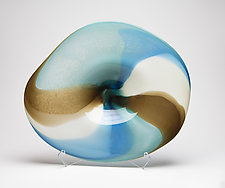 Ocean Landscape Platter by Janet Nicholson and Rick Nicholson (Art Glass Sculpture)