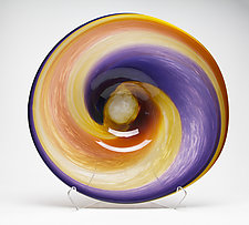 Sunset Landscape Platter by Janet Nicholson and Rick Nicholson (Art Glass Sculpture)