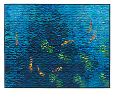 Koi Shimmer No. 8 by Tim Harding (Fiber Wall Hanging)