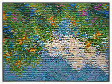Shimmering Summer Reflections by Tim Harding (Fiber Wall Hanging)
