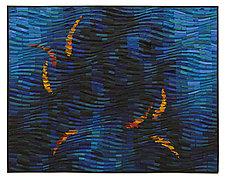 Dark Water Koi by Tim Harding (Fiber Wall Hanging)
