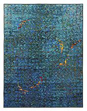 Koi Grid III by Tim Harding (Fiber Wall Hanging)