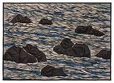 White Water I by Tim Harding (Fiber Wall Hanging)