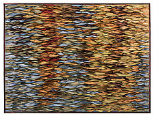 Reflecting Sea VI Gold by Tim Harding (Fiber Wall Hanging)