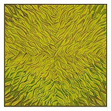 Lime Green Radial by Tim Harding (Fiber Wall Hanging)