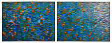 Summer Wave Dyptich by Tim Harding (Fiber Wall Hanging)