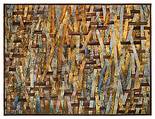 Bronze Interlace by Tim Harding (Fiber Wall Hanging)