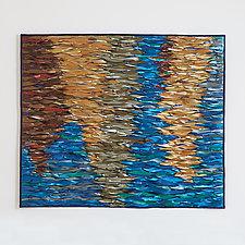 Reflecting Sea VII by Tim Harding (Fiber Wall Hanging)