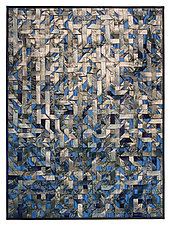 Blue Crystal by Tim Harding (Fiber Wall Hanging)