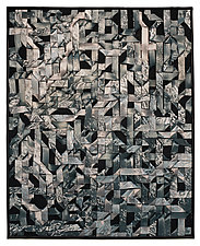 Black Ice by Tim Harding (Fiber Wall Hanging)