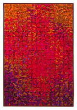 Scarlet Crushed Grid by Tim Harding (Fiber Wall Hanging)