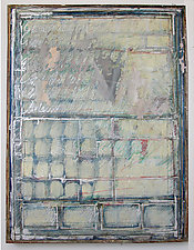 Untitled Calligraphy (Gulistan) by Gerald Siciliano (Mixed-Media Painting)