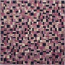 Earth Quilt 116: Lines XXVI by Meiny Vermaas-van der Heide (Fiber Wall Hanging)