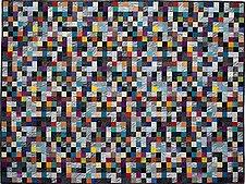 Earth Quilt 107: Lines XIX by Meiny Vermaas-van der Heide (Fiber Wall Hanging)