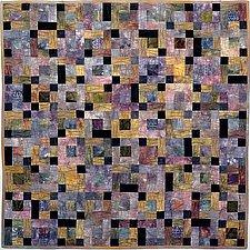 Earth Quilt 112: Lines XXII by Meiny Vermaas-van der Heide (Fiber Wall Hanging)