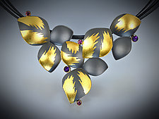 Lotus Gems Necklace by Judith Neugebauer (Gold, Silver & Stone Necklace)