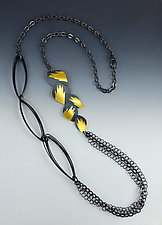 Journey Necklace by Judith Neugebauer (Silver & Gold Necklace)