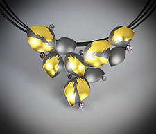 Lotus Gems II Necklace by Judith Neugebauer (Gold, Silver & Stone Necklace)