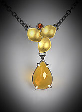 Evelyn Necklace II by Judith Neugebauer (Gold, Silver & Stone Necklace)