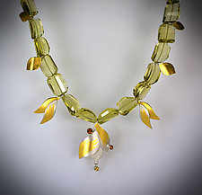 Golden Blossom Necklace by Judith Neugebauer (Gold, Silver & Stone Necklace)