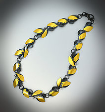 Sapphire Garland Necklace by Judith Neugebauer (Gold & Silver Necklace)