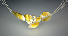 In Flight Necklace II by Judith Neugebauer (Gold, Silver & Stone Necklace)