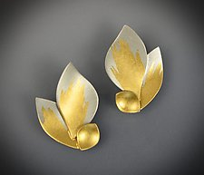 Golden Flame Earrings by Judith Neugebauer (Gold & Silver Earrings)