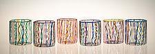 Cane Cups by Robert Dane (Art Glass Drinkware)
