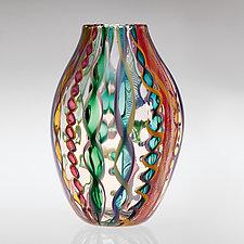 Cane Vases by Robert Dane (Art Glass Vase)