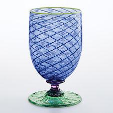 Tutti Frutti Water Glasses III by Robert Dane (Art Glass Drinkware)