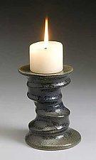 Spiral Candlesticks by Kaete Brittin Shaw (Ceramic Candleholder)