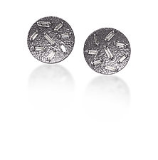 Ice Diamond Post Earrings by Elizabeth Garvin (Gold, Silver & Stone Earrings)